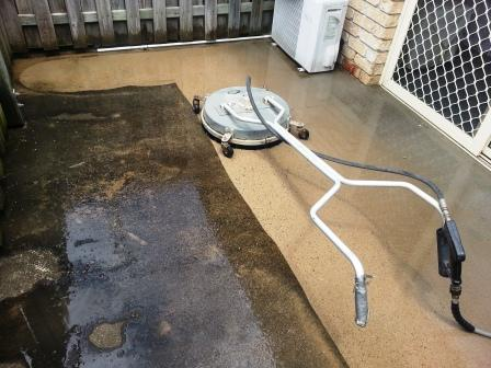 high pressure driveway and concrete cleaning in the