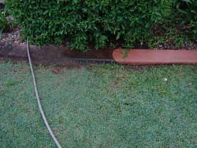 high pressure cleaned concrete garden edging